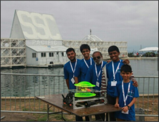 2015 Robosub at Naval Base, San Diego, USA (Team with AUV Model)